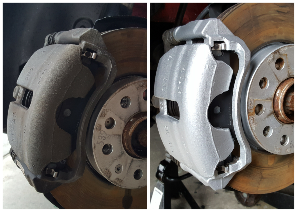 Brake caliper painting takes four to six hours depending on the calipers condition, we also offer this as a mobile service around Munster (Clare, Cork, Kerry, Limerick, Tipperary, Waterford) and surrounding areas, we require a garage or shed to work in if the weather is windy or wet.